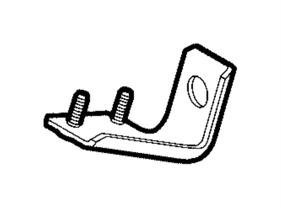 2018 RAM PROMASTER Bracket. Skid plate. Left. [trans