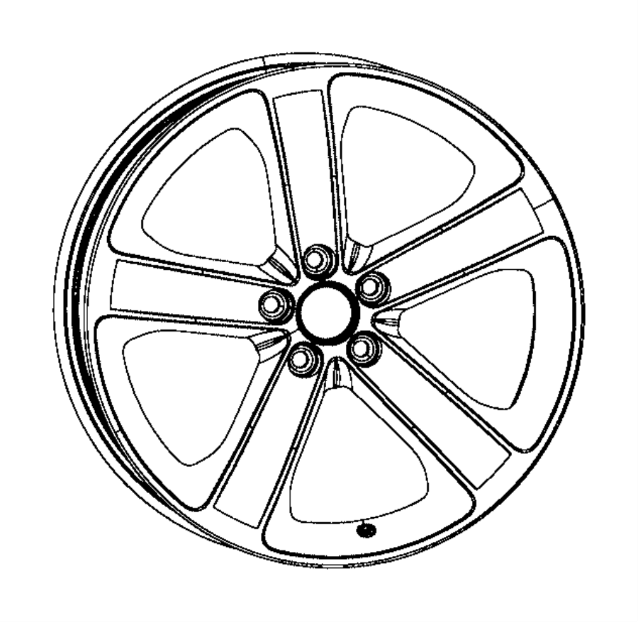 2015 Dodge Wheel. Aluminum. Front or rear. [tire and wheel