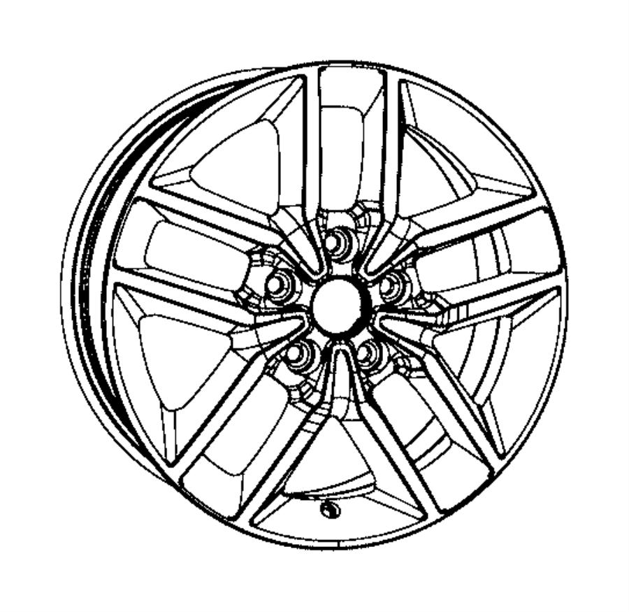 Jeep Grand Cherokee Wheel. Aluminum. Front or rear. [18x8