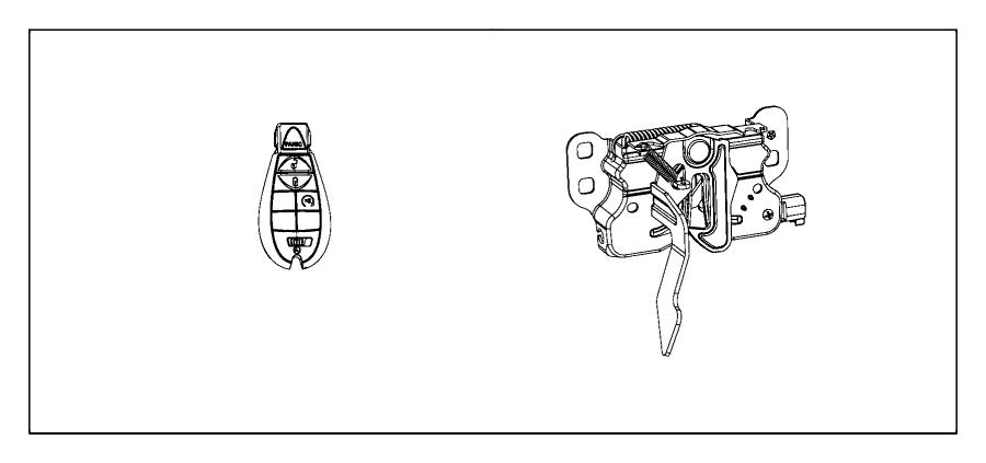 Dodge Ram 1500 Transmitter. Integrated key fob