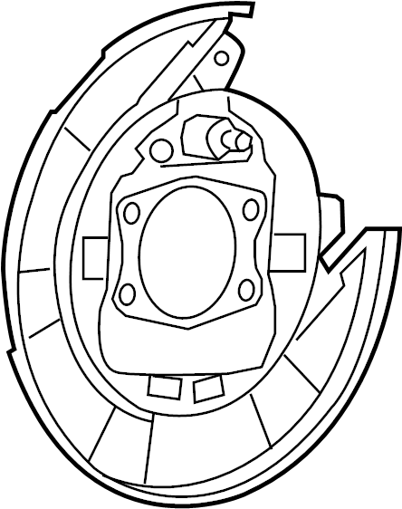 BACKING PLATE. Left, Left Rear, Rear Left. Rear Drum Brake