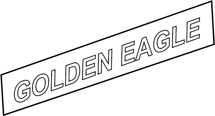 DECAL. Hood Side. GOLDEN EAGLE. Decals for 2006 Jeep