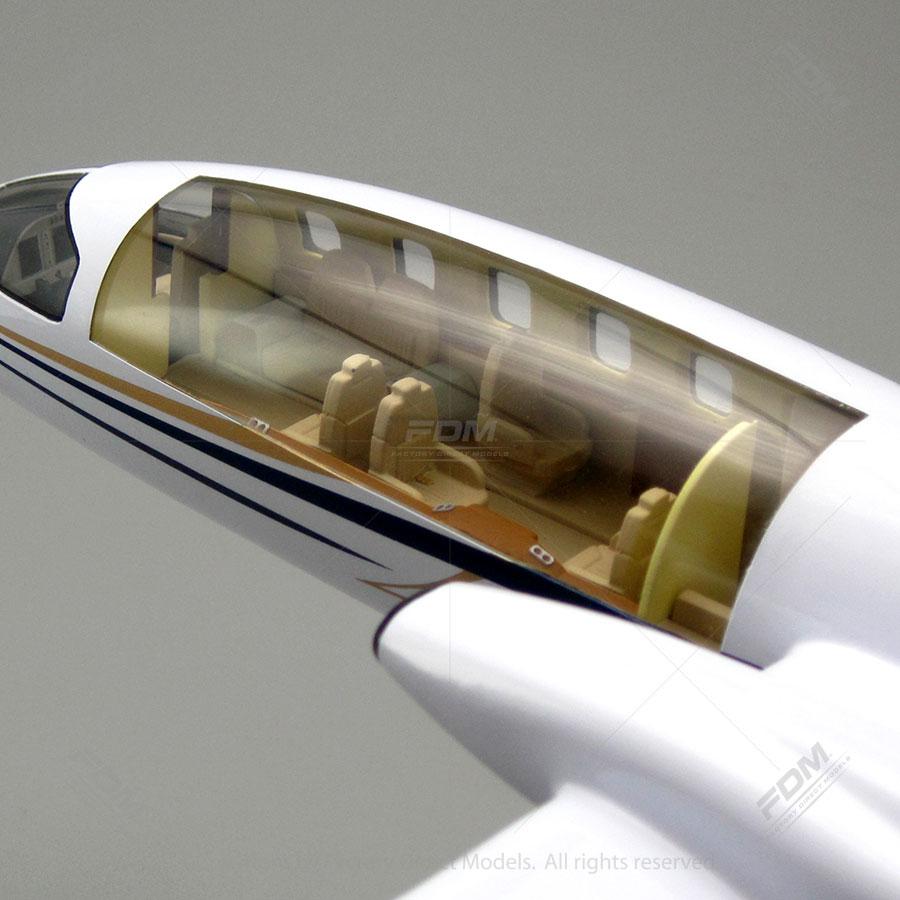 Piaggio P180 Avanti Model with Detailed Interior