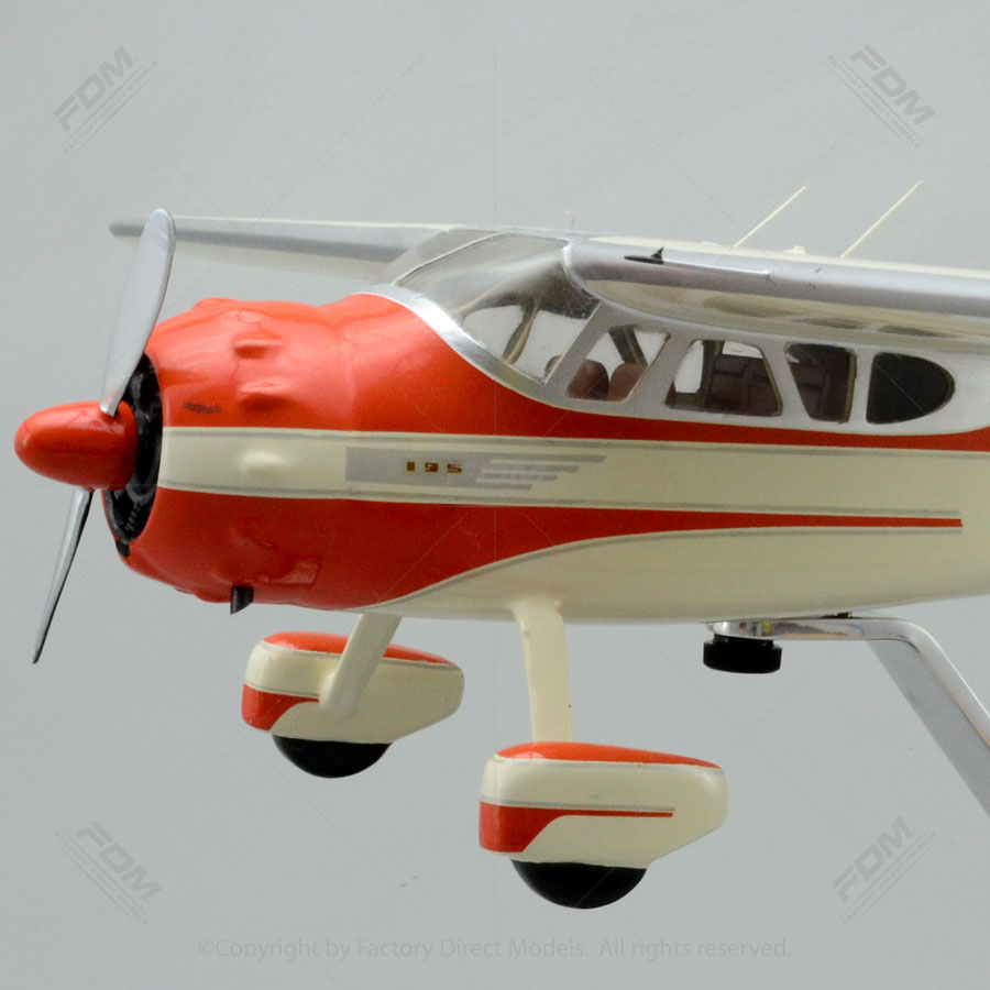 1950 Cessna 195 Businessliner Model with Detailed Interior