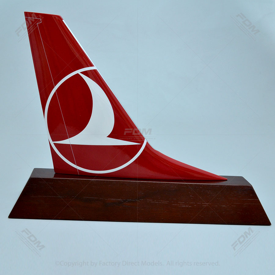 Turkish Airlines 737800 Tail Fin  Factory Direct Models