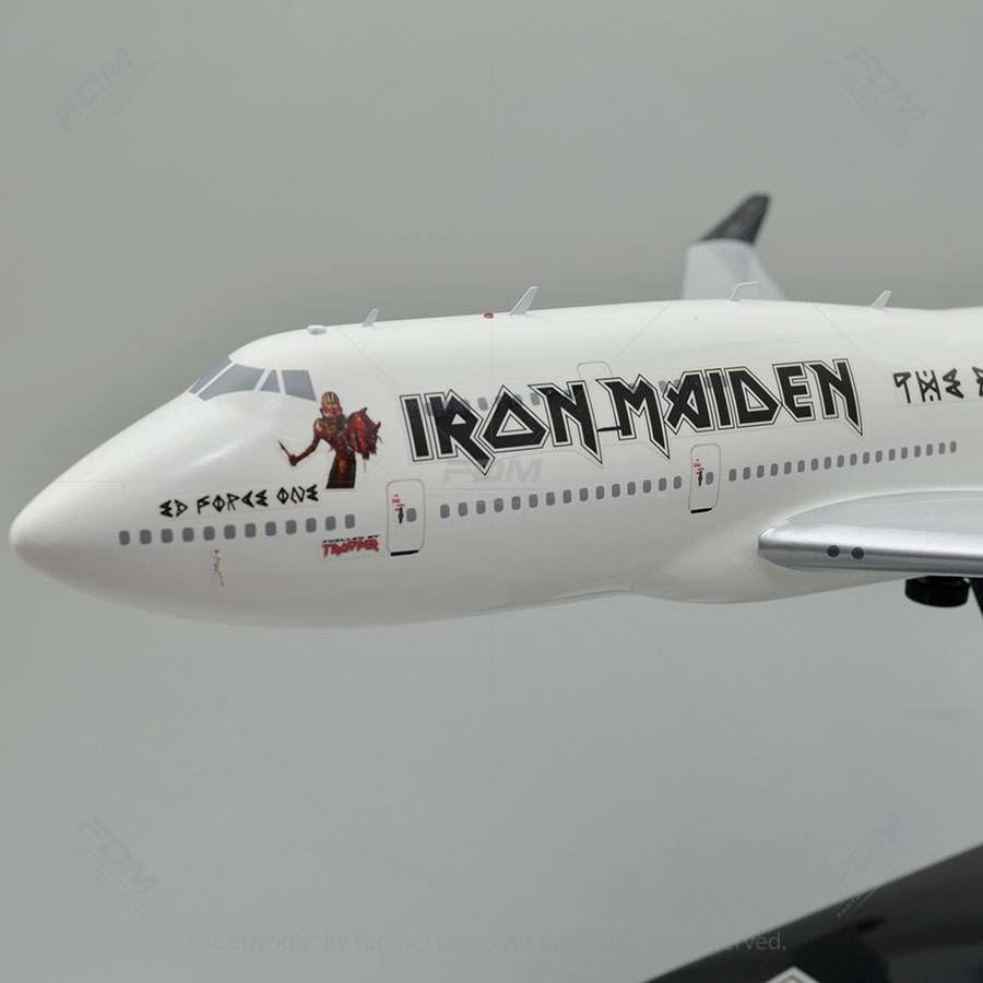 Boeing 747100 Ed Force One Iron Maiden Model  Factory