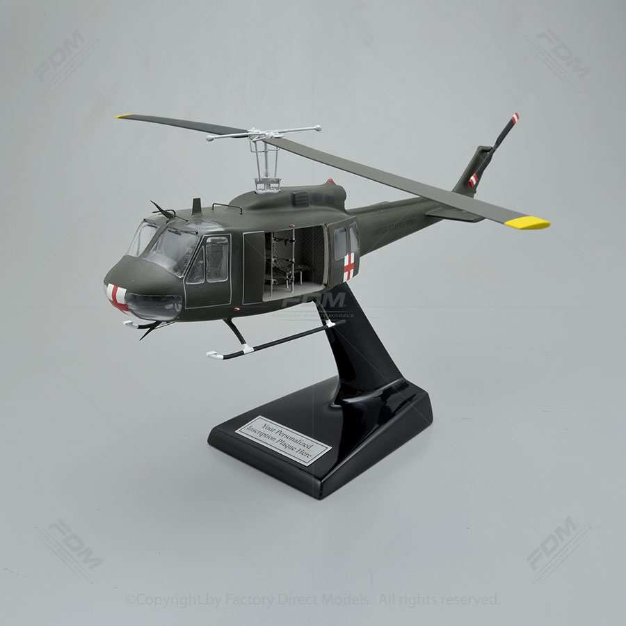 Bell UH1H Huey Model with Detailed Interior