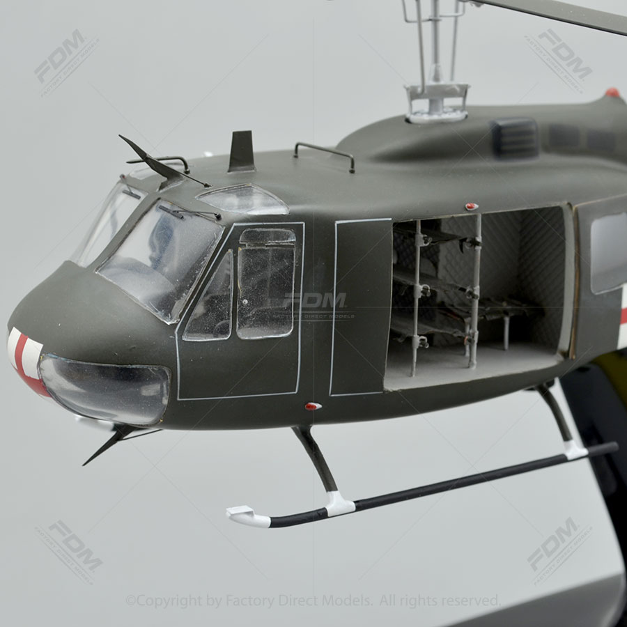 Bell UH1H Huey Model with Detailed Interior  Factory