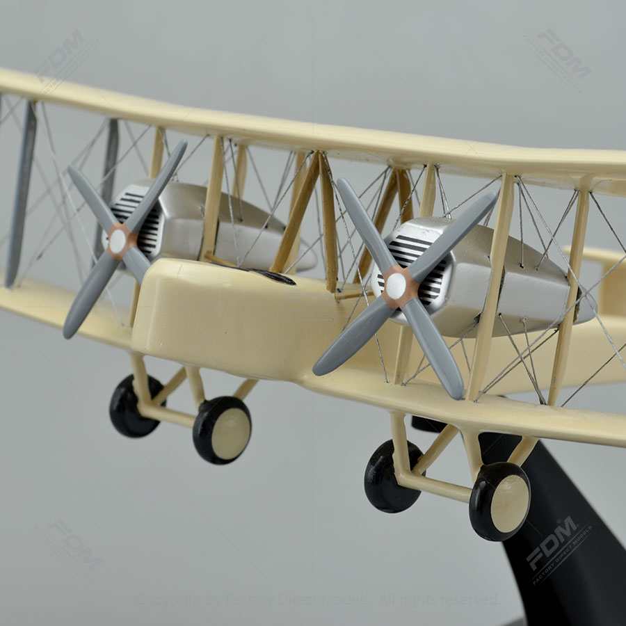 Vickers Vimy Biplane Model with Detailed Interior