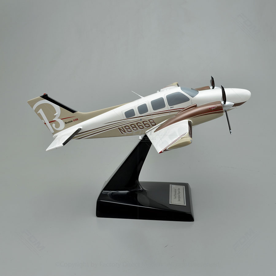 Beechcraft Baron G58 Airplane Model  Factory Direct Models