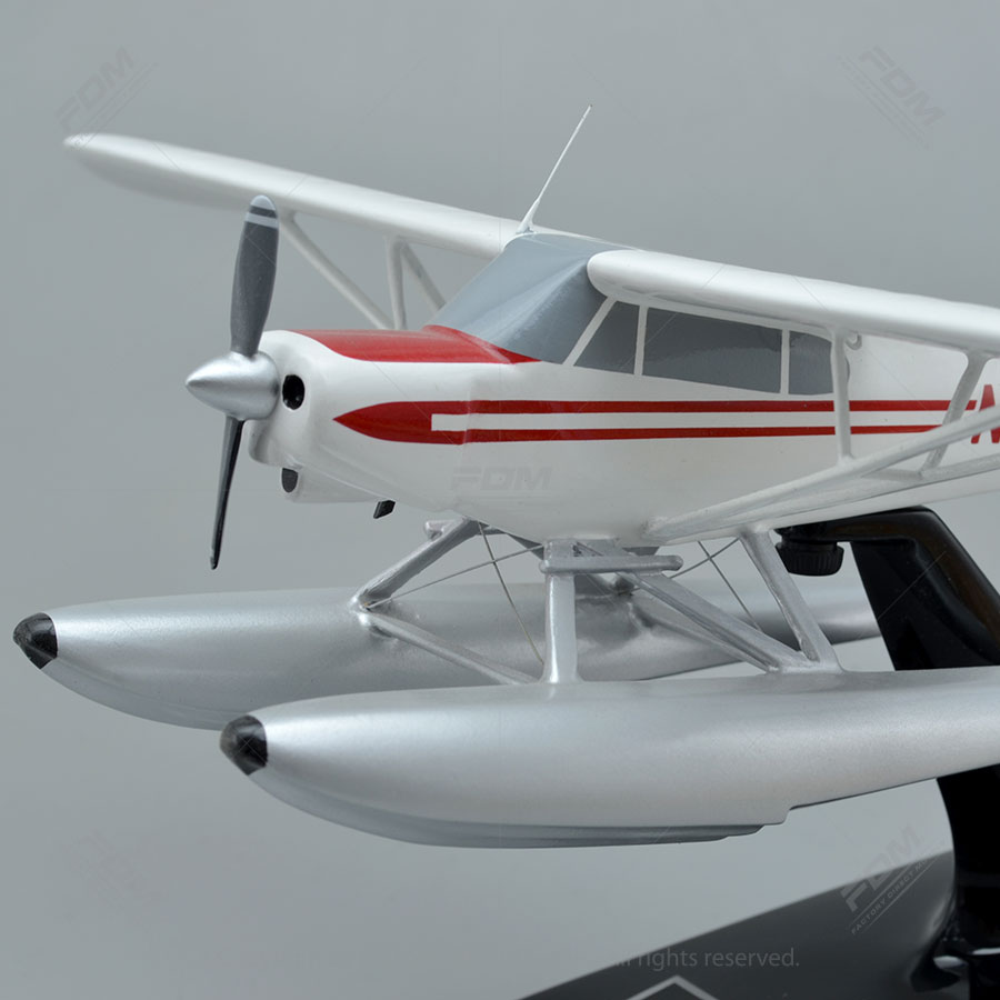 Piper PA 18 Super Cub On Floats Model