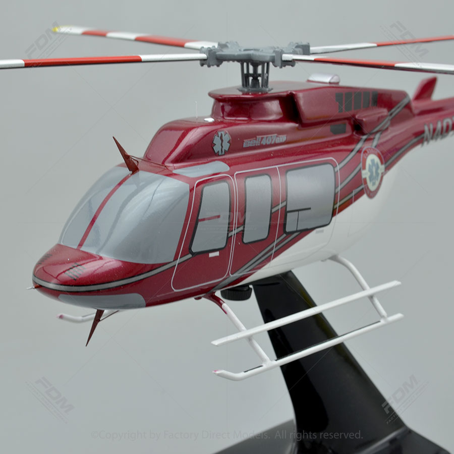 Bell 407 Scale Model Helicopter