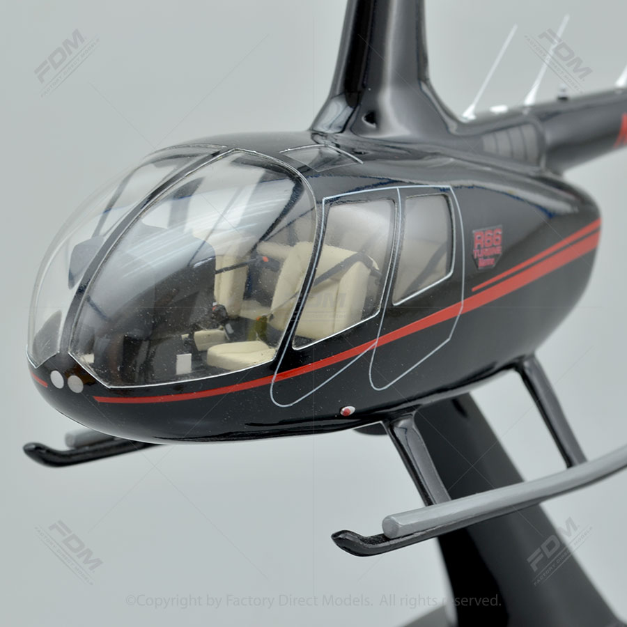 Robinson R66 Model Helicopter with Detailed Interior