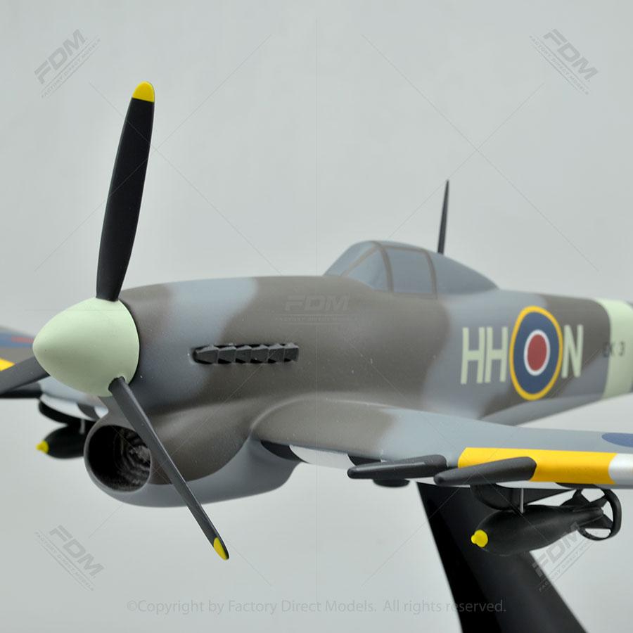 Hawker Typhoon Mk1B Model Airplane  Factory Direct Models