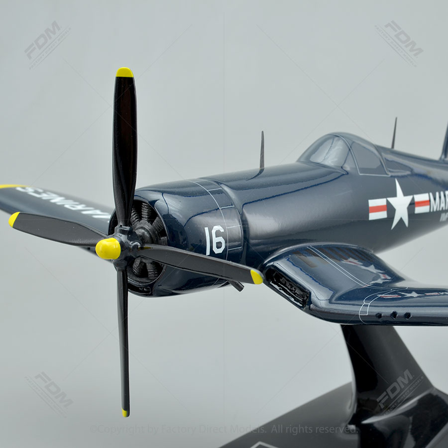 Vought F4U4 Corsair Model Airplane  Factory Direct Models