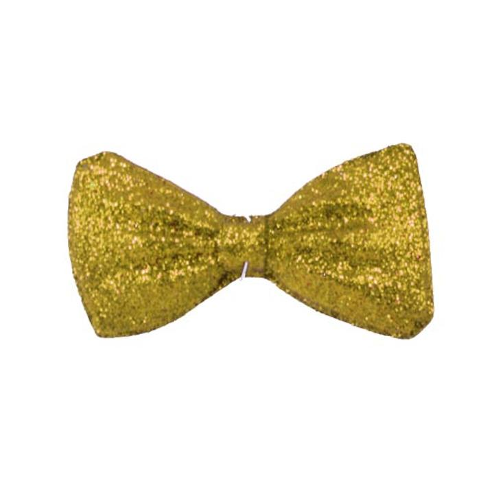 "5"" Gold Glitter Bow Ties"