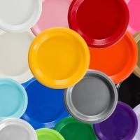 Solid Color Discount Plastic Plates   Factory Direct Party