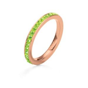 FOLLI FOLLIE - Επάργυρο δαχτυλίδι Folli Follie με ροζ επιχρύσωση