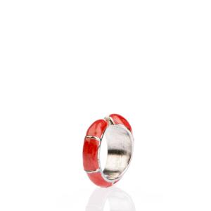 FOLLI FOLLIE - Γυναικείο δαχτυλίδι Folli Follie κόκκινο