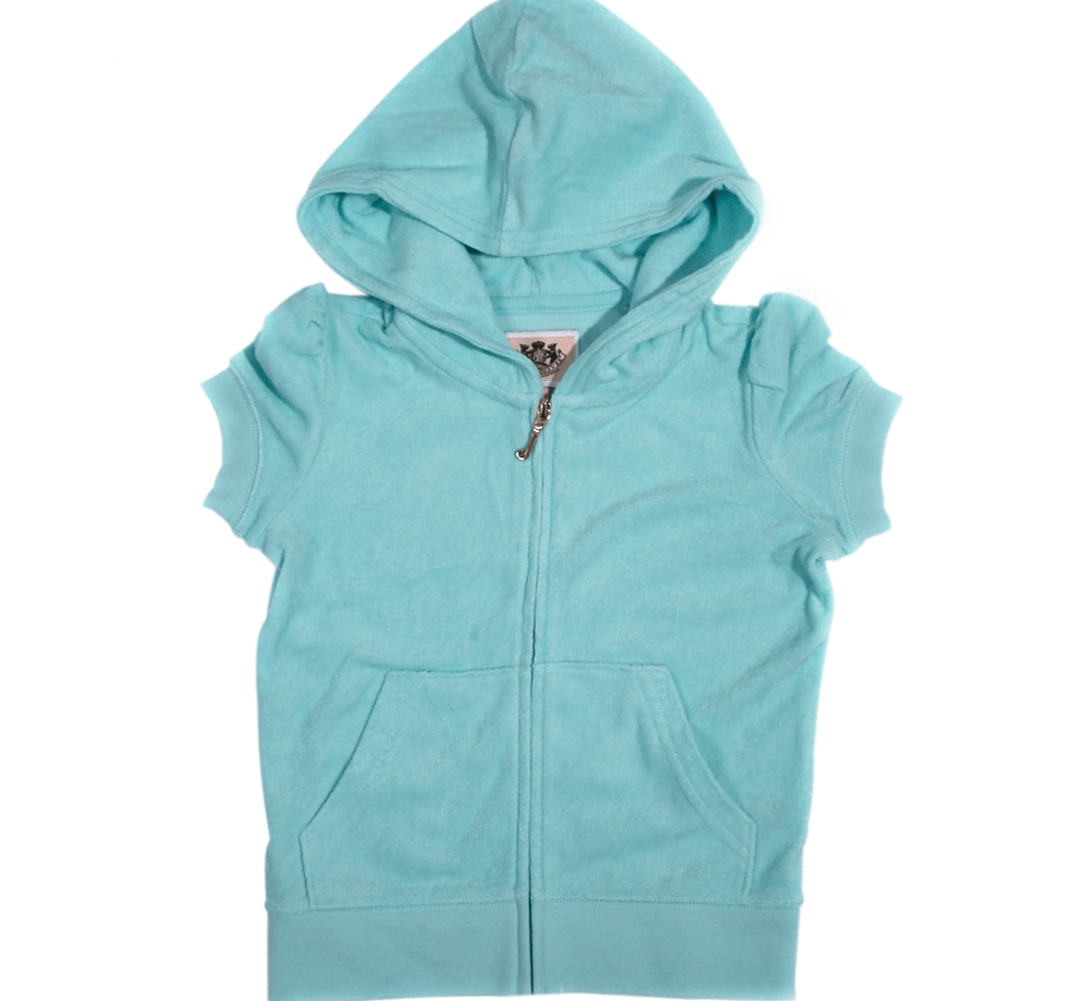 JUICY COUTURE KIDS - Παιδική ζακέτα JUICY COUTURE σιελ