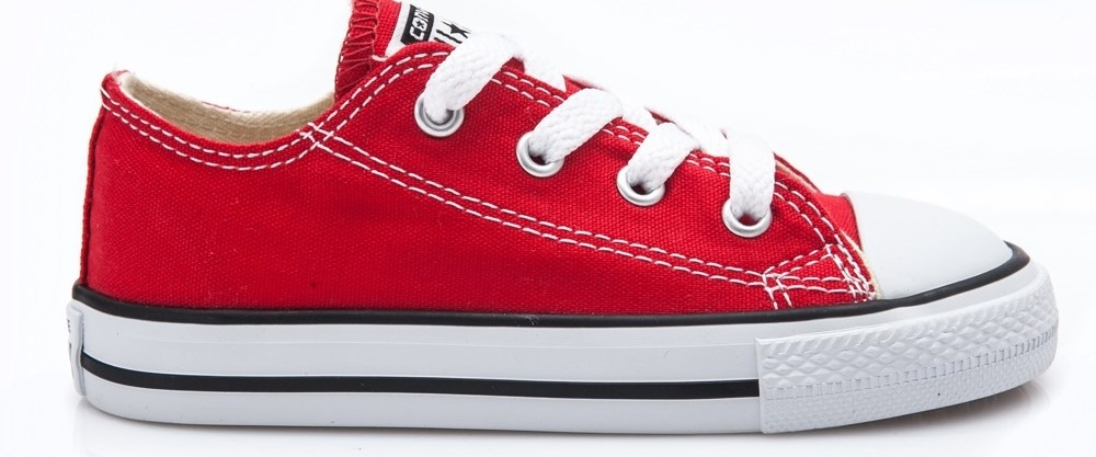 CONVERSE - Βρεφικά παπούτσια Chuck Taylor κόκκινα