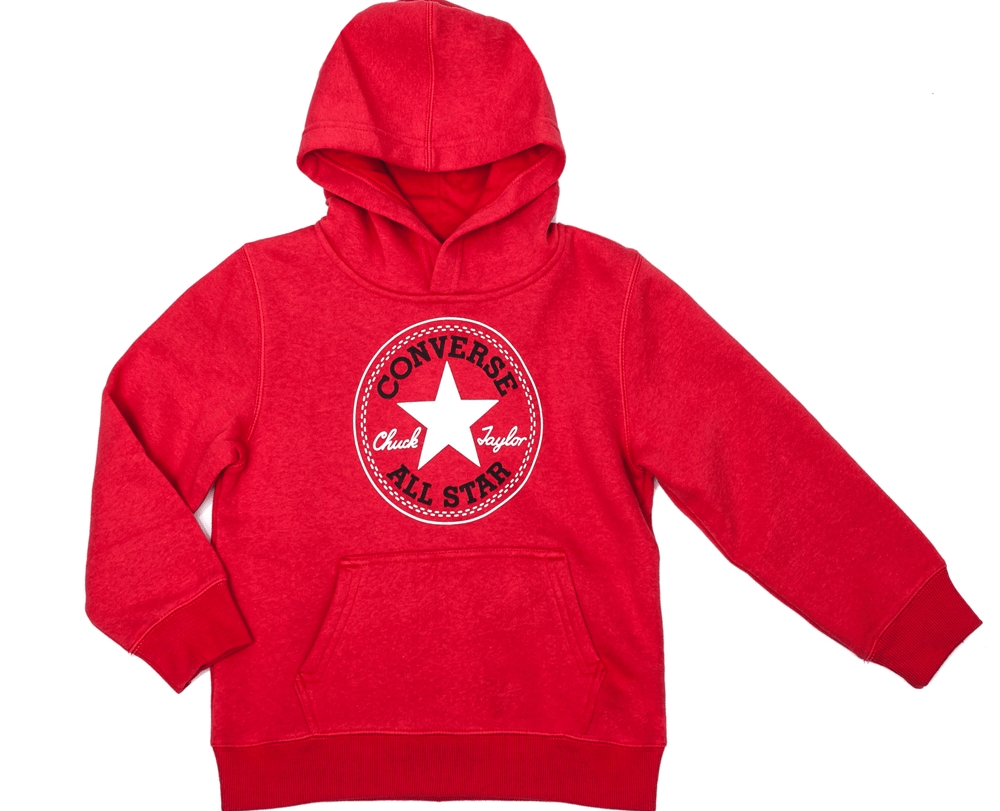 CONVERSE - Παιδικό φούτερ Converse κόκκινο