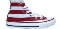 CONVERSE - Παιδικά παπούτσια Chuck Taylor κόκκινα-λευκά