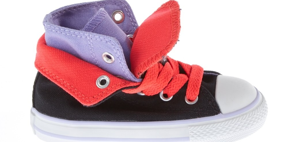 CONVERSE - Βρεφικά μποτάκια Chuck Taylor All Star μαύρα