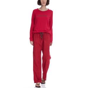 CK UNDERWEAR - Σετ πυτζάμες Calvin Klein κόκκινο