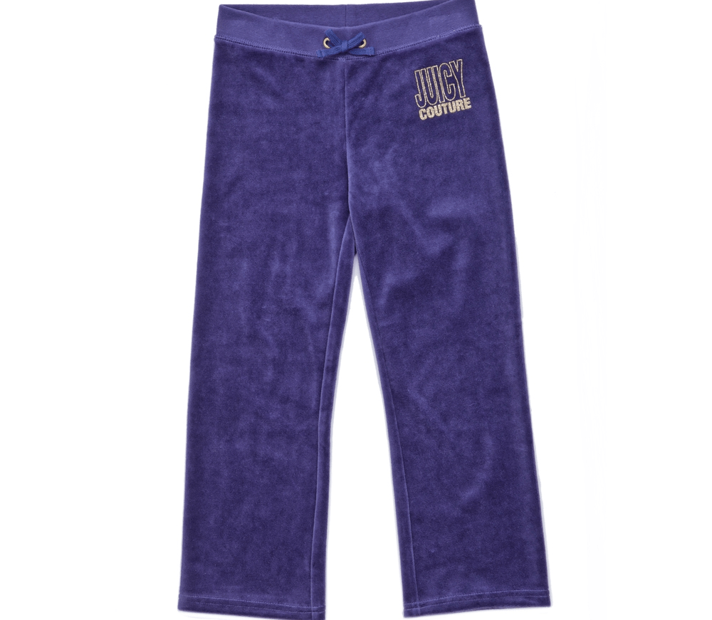 JUICY COUTURE KIDS - Παιδικό παντελόνι JUICY COUTURE μωβ