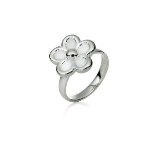 FOLLI FOLLIE - Επάργυρο δαχτυλίδι Folli Follie με λουλούδι