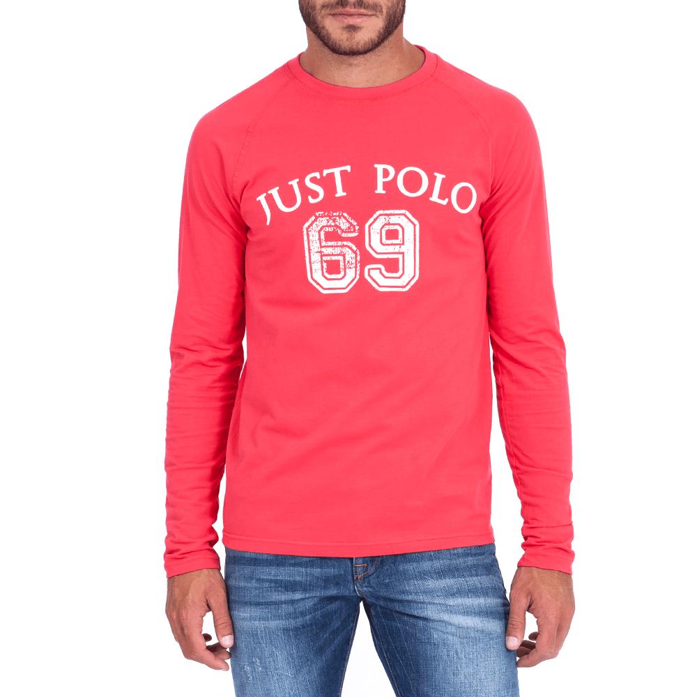 JUST POLO - Ανδρική μπλούζα Just Polo κοραλί