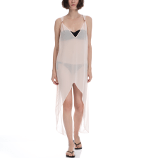 TED BAKER - Φόρεμα Ted Baker DIP HEM MAXI COVER UP ροζ