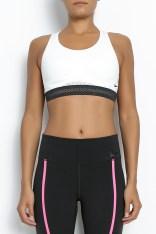 NIKE - Γυναικείο αθλητικό μπουστάκι Nike PRO FIERCE REFLECTIVE λευκό