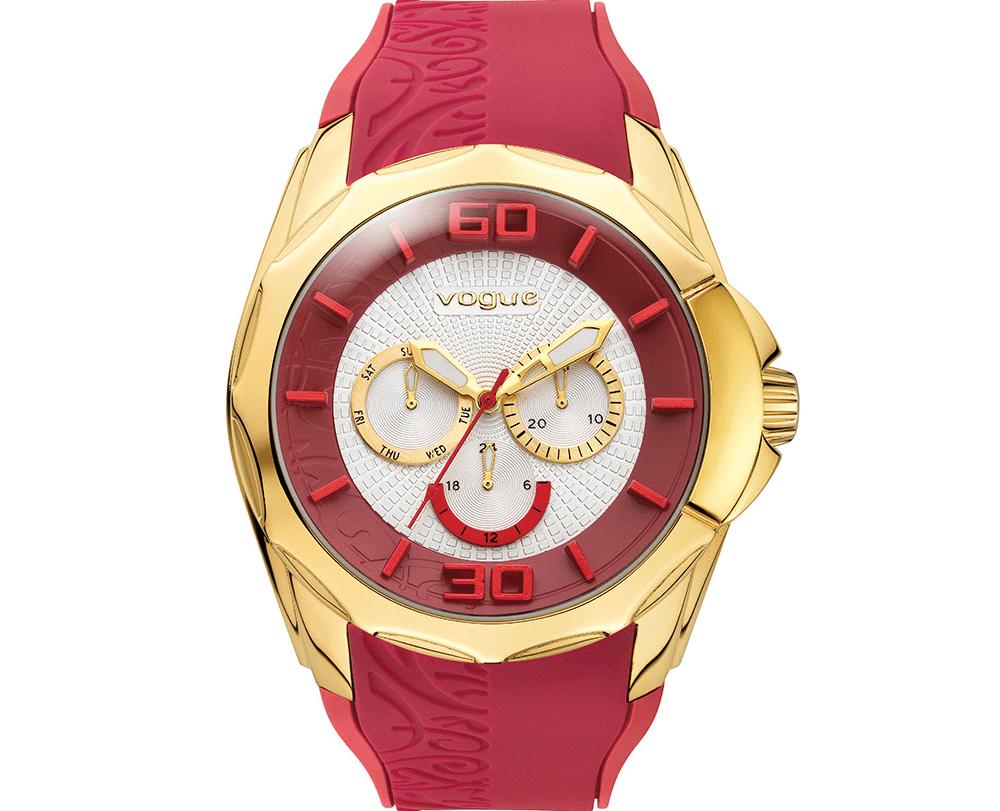 VOGUE - Γυναικείο ρολόι VOGUE μπορντώ