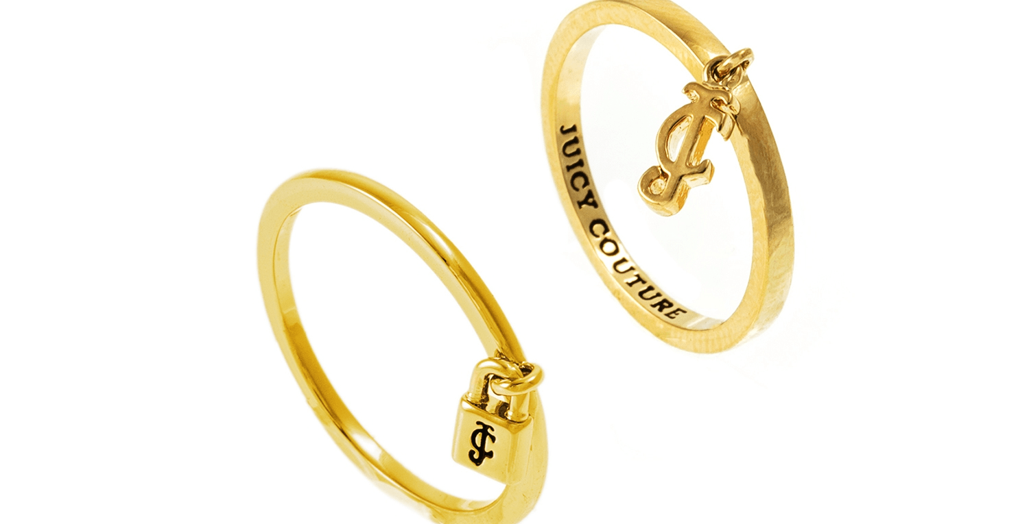 JUICY COUTURE - Σετ δαχτυλίδια PEARL RING JUICY COUTURE
