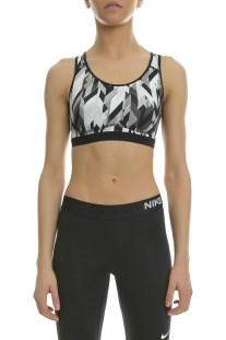 NIKE - Γυναικείο αθλητικό μπουστάκι Nike PRO Fierce GEO PRSM άσπρο - μαύρο