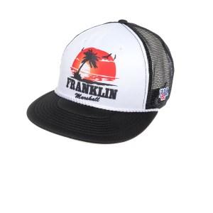 FRANKLIN & MARSHALL - Καπέλο τζόκεϋ Franklin & Marshall μαύρο-λευκό