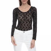 JUICY COUTURE - Γυναικείο ολόσωμο κορμάκι με δαντέλα Juicy Couture μαύρο