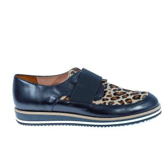 CHANIOTAKIS - Γυναικεία δερμάτινα παπούτσια Chaniotakis μαύρα