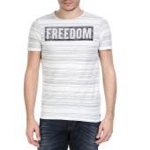 GARCIA JEANS - Ανδρική κοντομάνικη μπλούζα GARCIA JEANS λευκή με στάμπα image