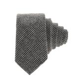 HAMAKI - Ανδρική γραβάτα HAMAKI μαύρη-γκρι image