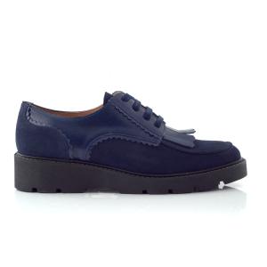 CHANIOTAKIS - Γυναικεία παπούτσια OXFORD SOFTY μπλε