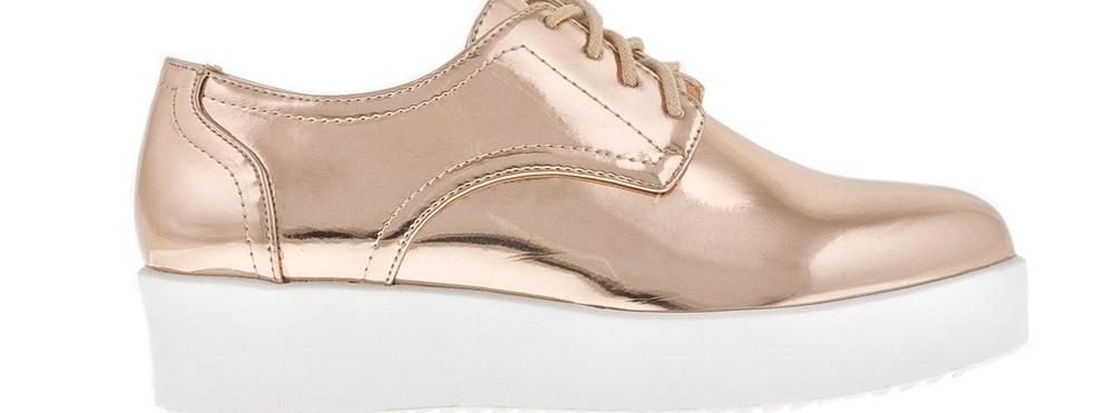 FUNKY BUDDHA - Γυναικεία παπούτσια FUNKY BUDDHA ροζ χρυσά