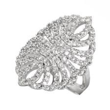 JEWELTUDE - Γυναικείο επιπλατινωμένο δαχτυλίδι Δαντέλα