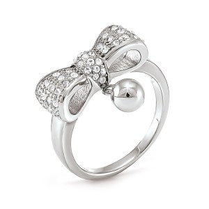 FOLLI FOLLIE - Επάργυρο δαχτυλίδι Folli Follie BOW με φιόγκο