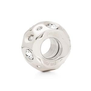FOLLI FOLLIE - Επάργυρο μικρό παντατίφ Folli Follie MATCH & DAZZLE με κρυστάλλινες πέτρες