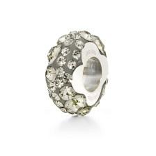 FOLLI FOLLIE - Επάργυρο στενό παντατίφ Folli Follie MATCH & DAZZLE με γκρι κρυστάλλινες πέτρες