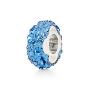 FOLLI FOLLIE - Επάργυρο στενό παντατίφ Folli Follie MATCH & DAZZLE με μπλε κρυστάλλινες πέτρες