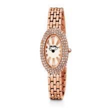 FOLLI FOLLIE - Γυναικείο οβάλ ρολόι Folli Follie με μπρασελέ ροζ - χρυσό